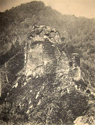 The ruins of the Fortress of Poienari